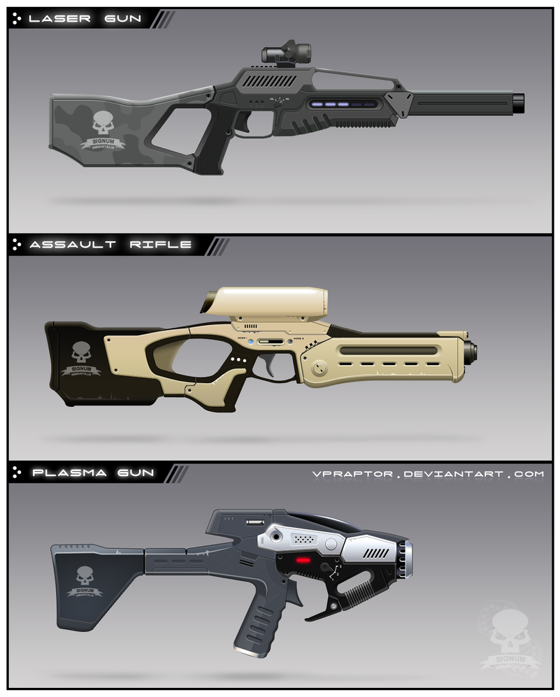 Assembled Guns by vpRaptor