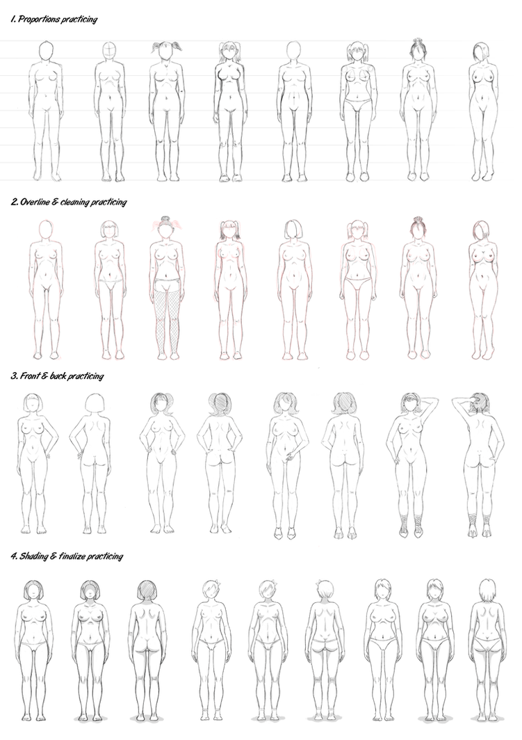 Female body studying by vpRaptor