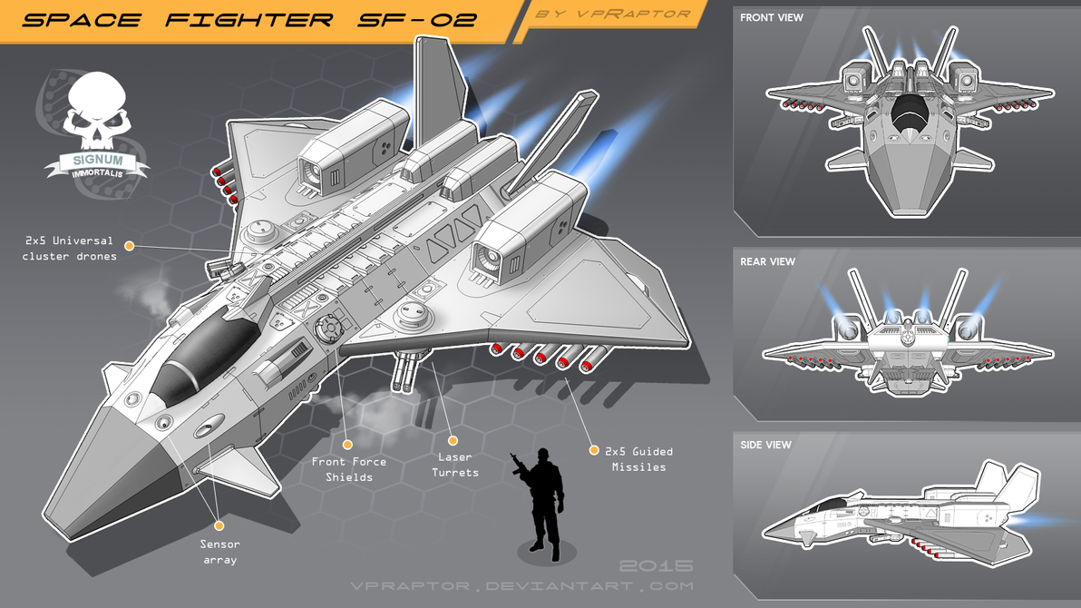 Space Fighter SF-02 by vpRaptor