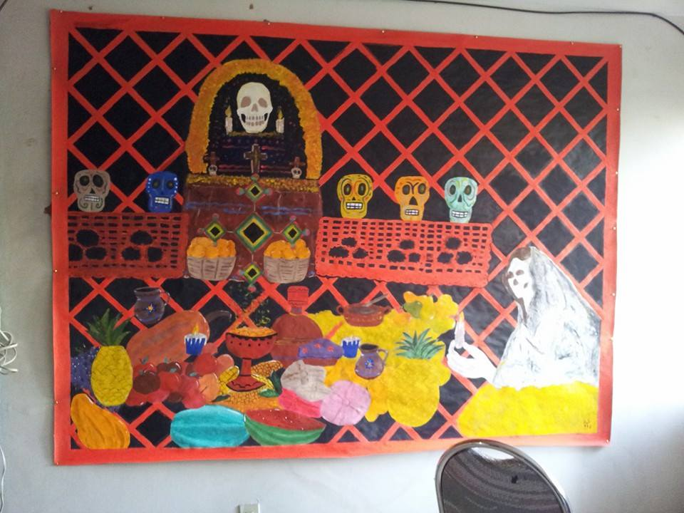 Mural para dia de muertos by s mouse on deviantart for Dia mural artist