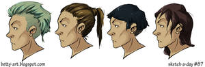 Sketch A Day_087|Heads and haircuts