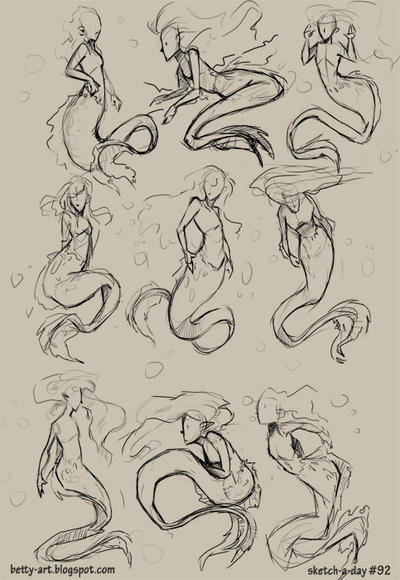 Sketch A Day_092 Mermaids