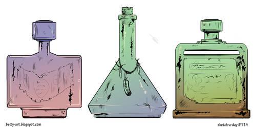 Sketch A Day_114|Old Bottles