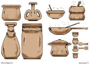 Sketch A Day_117|Pots