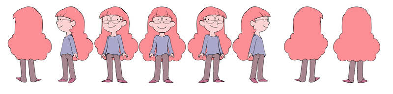 Little pink hair turnaround