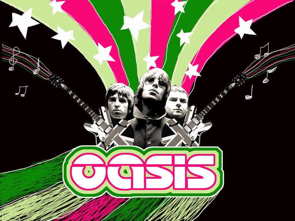 Oasis Banda Wallpaper Arte Con Oasis