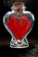 Lego Heart in a Bottle by forteallegretto