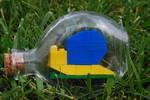 Lego Snail in a Bottle
