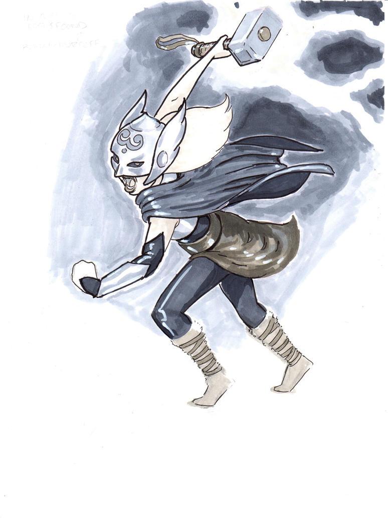 Girl-Thor by kirstgrafx