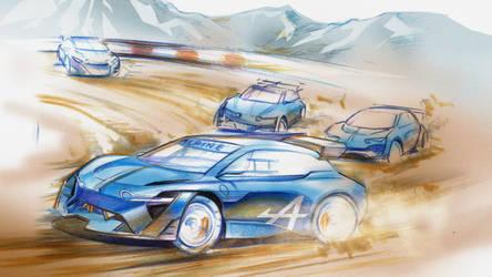 Alpines Sketch