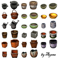 Plates and Flower Pots Pack by Ayene-chan