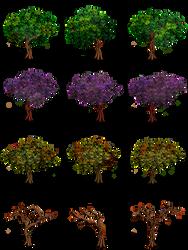 RPG Maker Trees by Ayene-chan