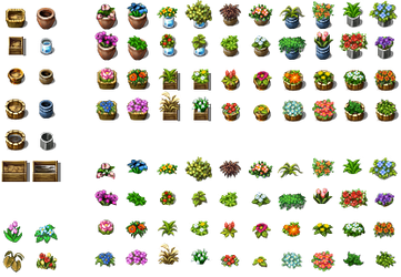 RPG Maker VX - Flowers and Pots by Ayene-chan