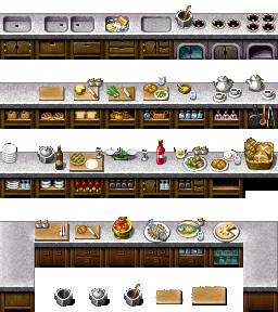 RPG Maker VX/Ace - Kitchen Cabinets by Ayene-chan