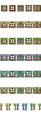 RPG Maker VX/Ace - Windows with Curtains