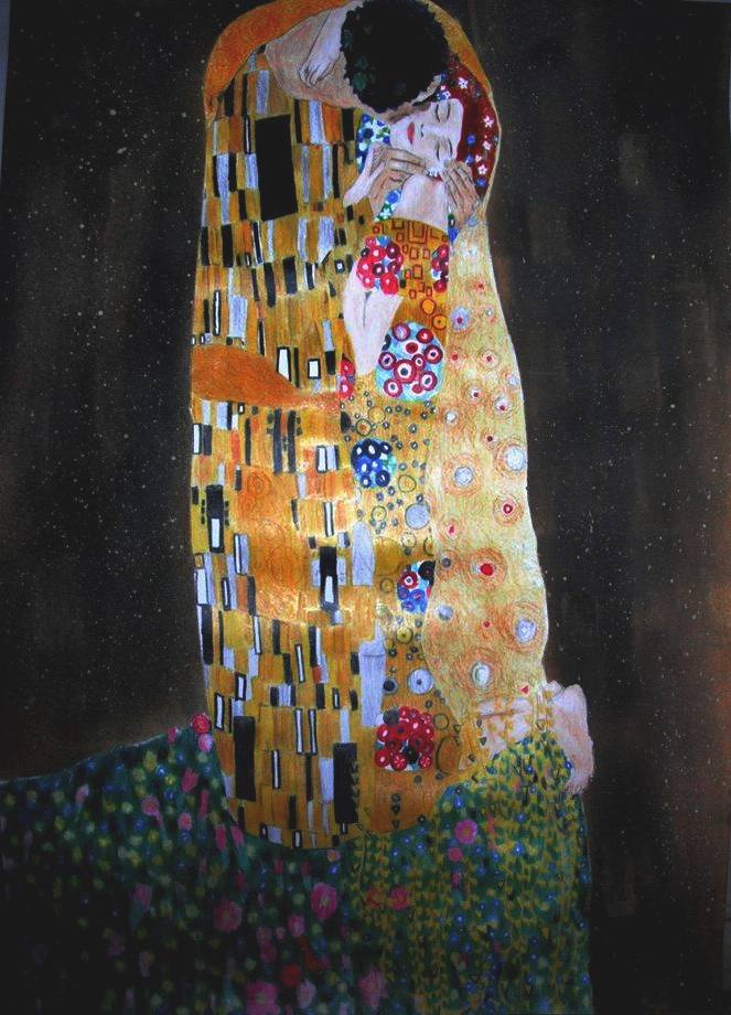 The Kiss of Gustav Klimt by odin3000