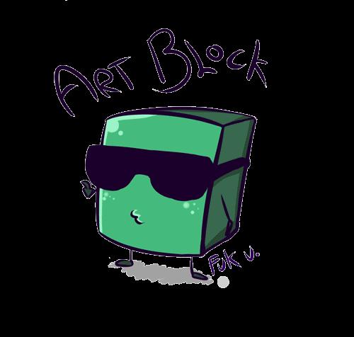 Rainbow ArtBlock by StringsOnABunny