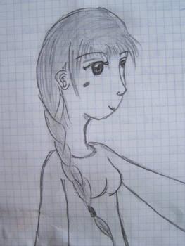 Girl from letter