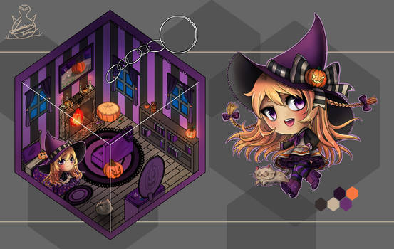 Pocket Halloween Cube- Little Witch