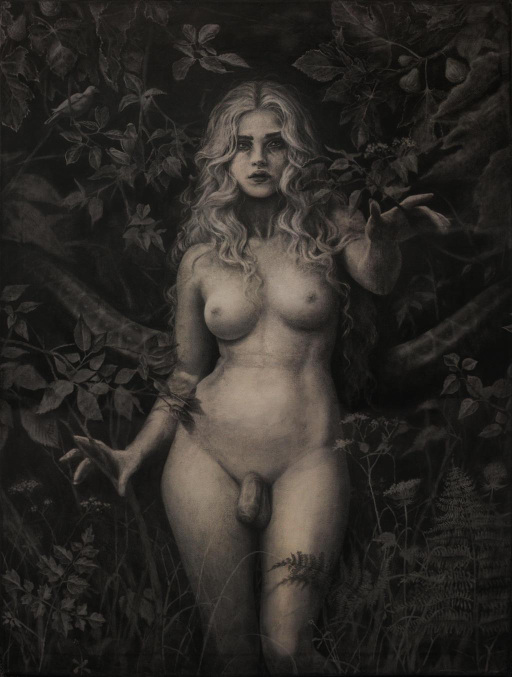 Angrogen in the Garden, Genesis 1:27 by Pandora-intheSKY