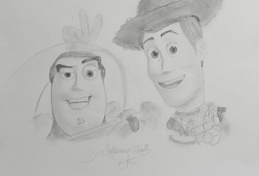 woody and buzz by elinextwilight-d3avmbc jpgWoody And Buzz Drawing
