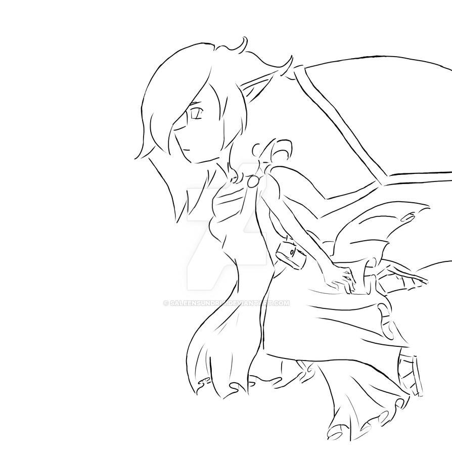 Demon/Devil/Anti-angel lineart by SaleenSundria