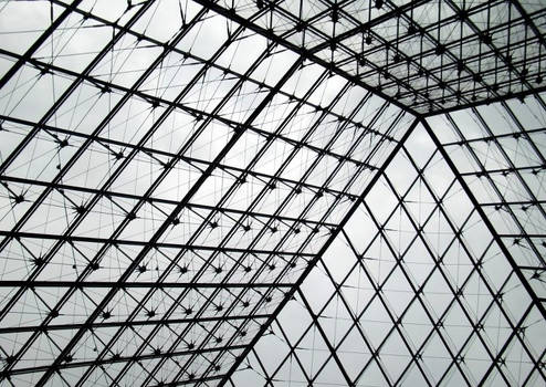 The pyramid in the Louvre