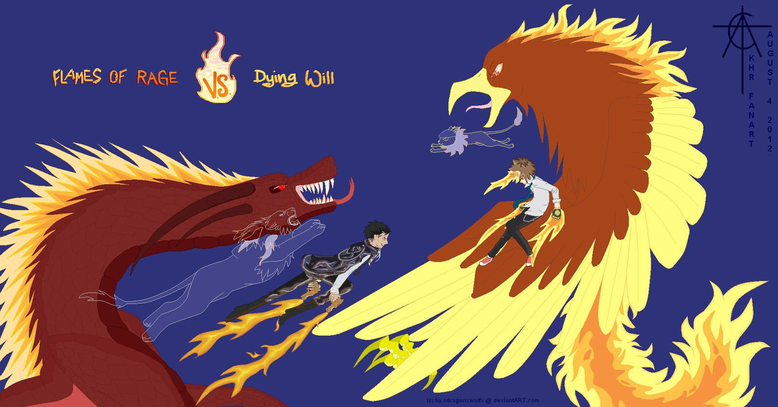 Fanart Khr Xanxus Vs Tsuna Sky Ring Battle By Xdragonxwolfx