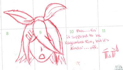 Rin's head by xdragonxwolfx