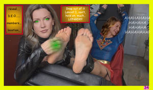 Supergirl Tickled by Black Canary (commission)