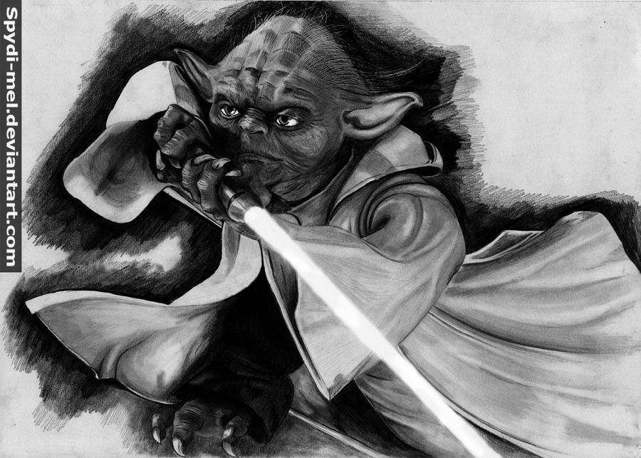 Yoda ,draw u must by Spydi-mel
