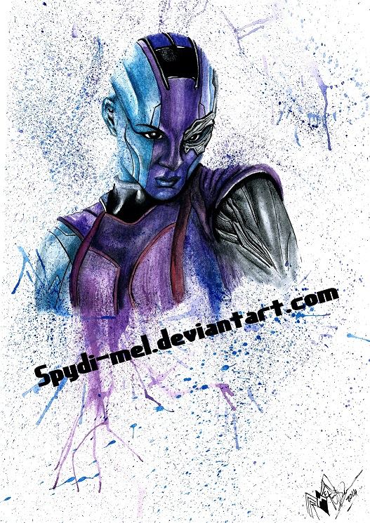 NEBULA watercolour by Spydi-mel
