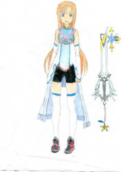 Asuna (Kingdom Hearts attire) by Jacksonswordsman