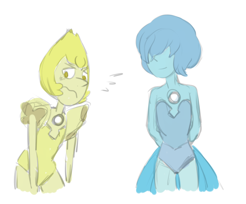 Yup, I like pearls. owo Blue Pearl and Yellow Pearl are from Steven Universe Art @ me