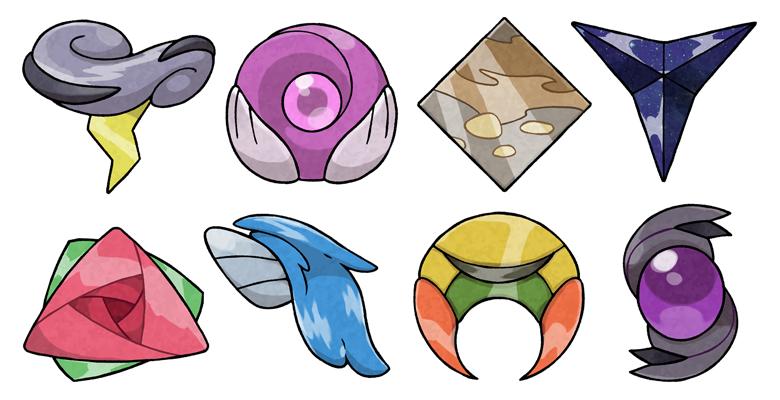Naisu Region Gym Badges 2.0 by pokeluka