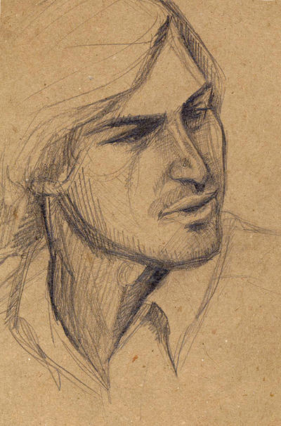 Steve jobs sketch by februarymoon