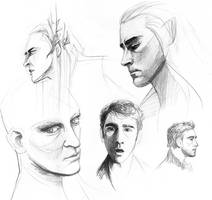 Lee Pace - sketches/studies by februarymoon