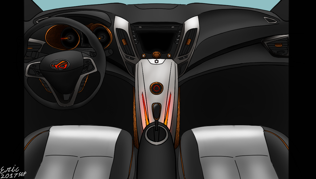 ASUS ROG Inspired Hyundai Veloster Interior By Nudoxsys ...