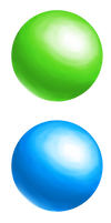 Green Blue Red Orbs