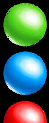 Green Blue Red Orbs by AlishaVolkman