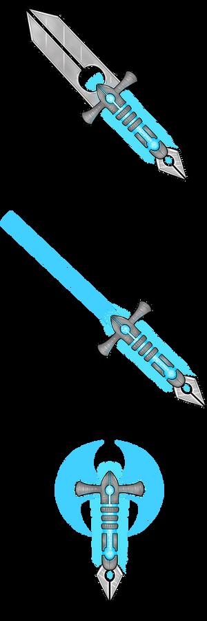Cyber Weapons Axe, Sword, Dagger