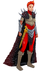 Female Fighter 02 by AlishaVolkman