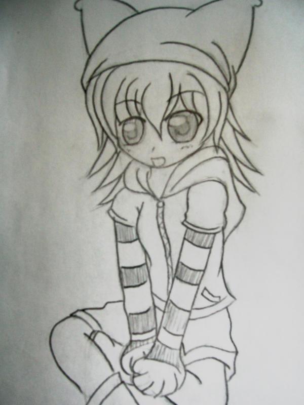 Cute anime girl drawing by fullmetalgirl1573