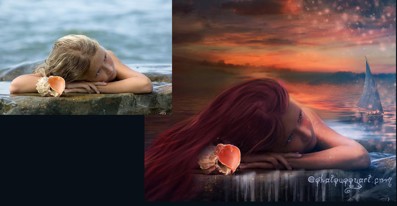 Before After Ariel by phatpuppy