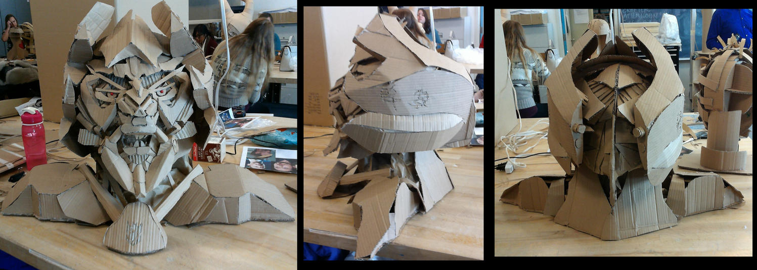 Megatron: Cardboard Sculpture Project by Jagoria