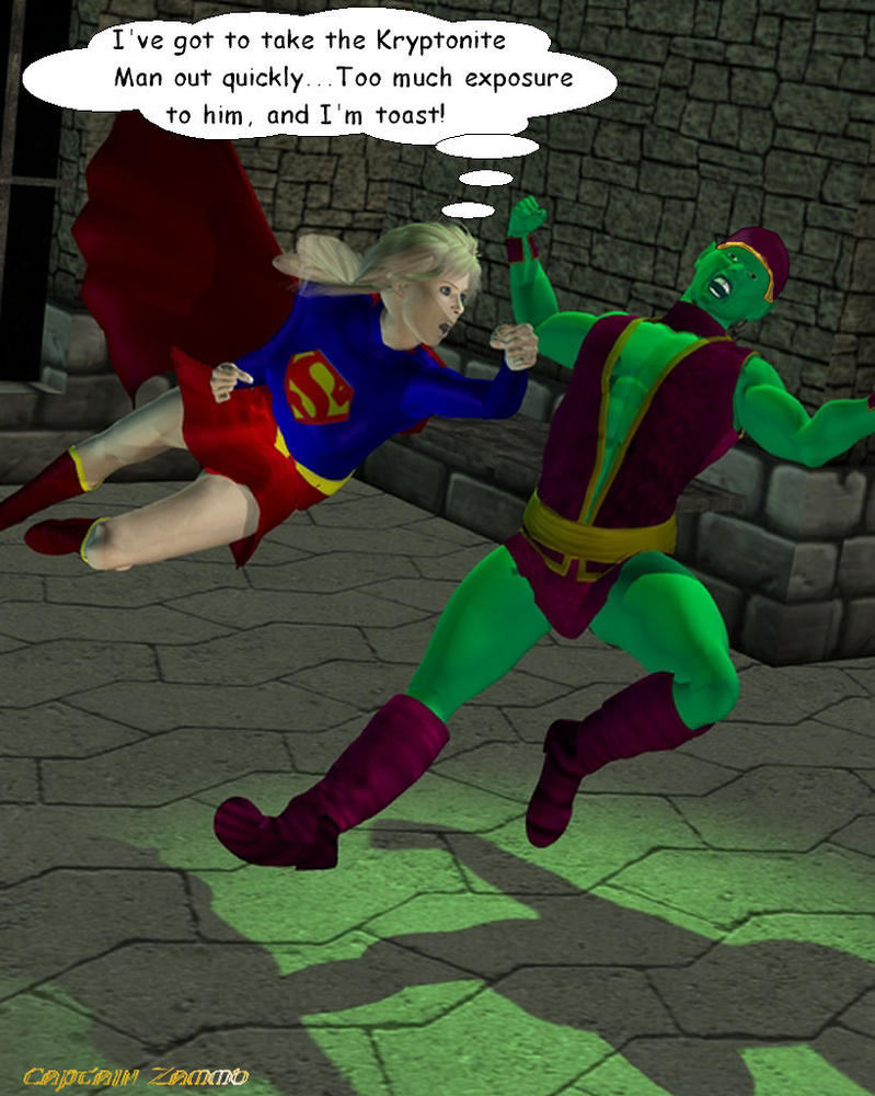 Supergirl and Kryptonite Man by CaptainZammo