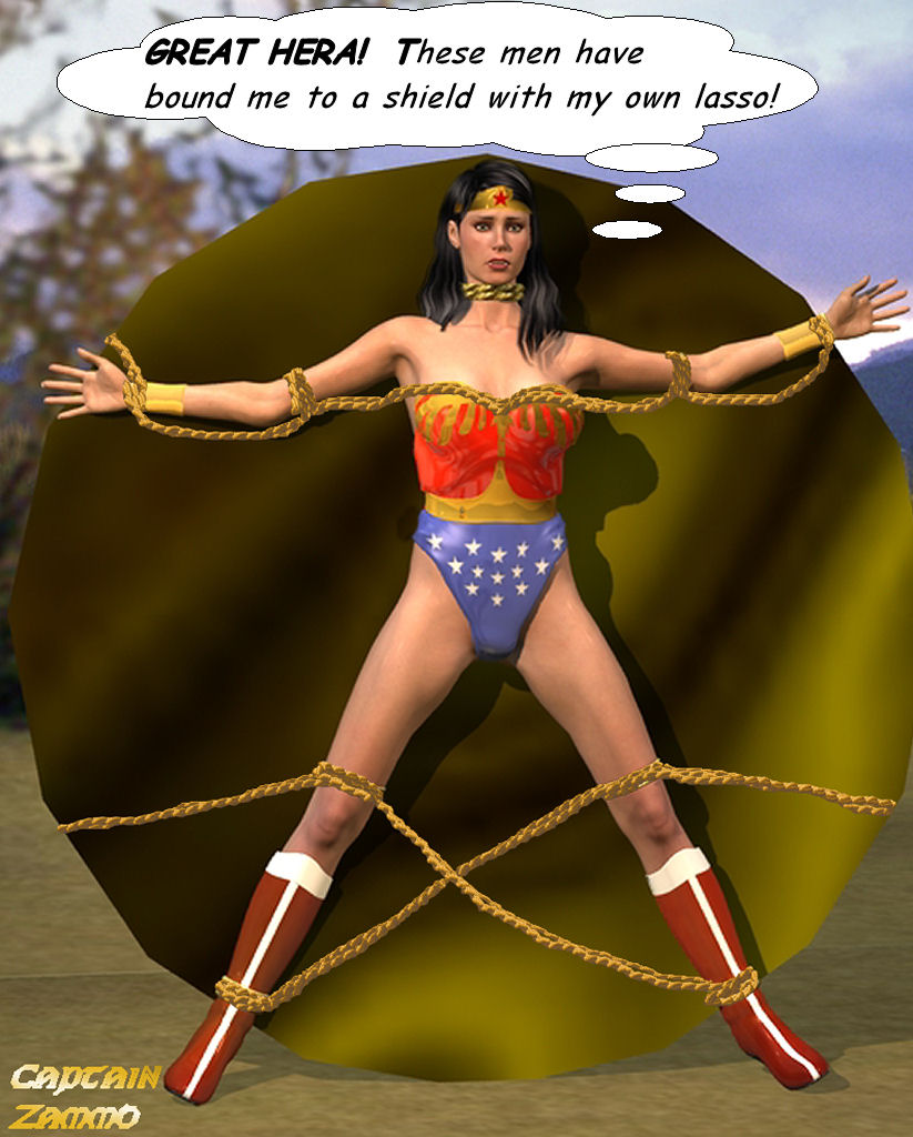 Wonder Woman helpless by CaptainZammo