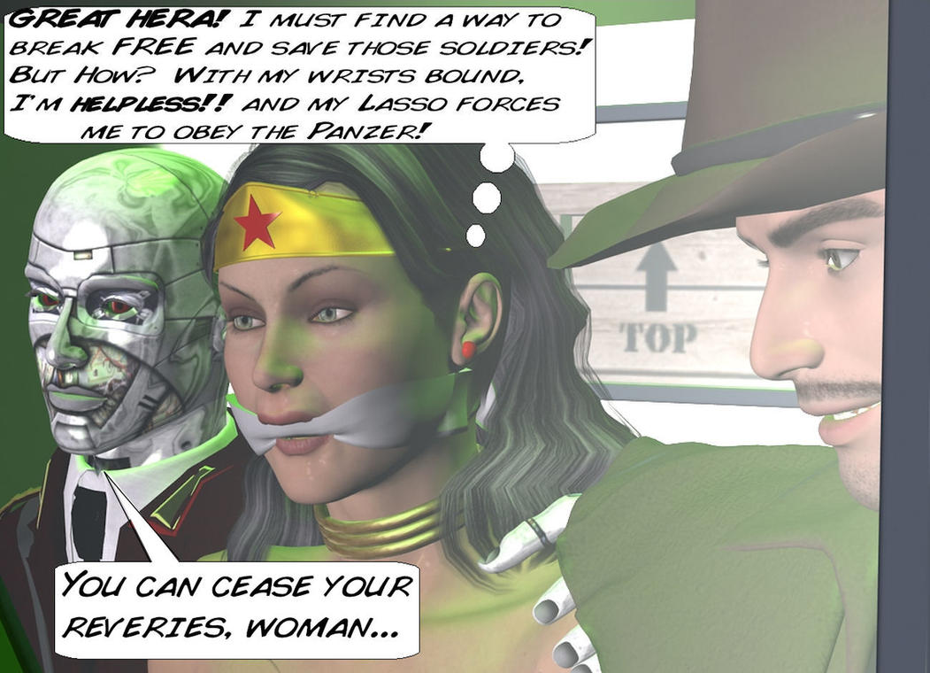 Wonder Woman Defeated Deviantart Defeated by the red panzer 17