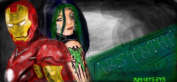Graffiti - IM and Absynthe by nassersays