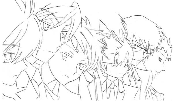 ouran highschool coloring pages - photo#17